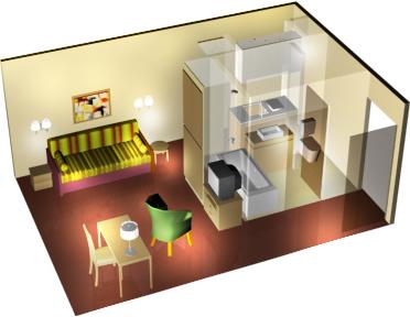 citadines la defense paris paris serviced apartments mondestay worldwide. Black Bedroom Furniture Sets. Home Design Ideas